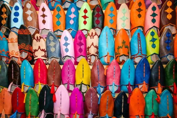 Marokkói tradicionális papucsok