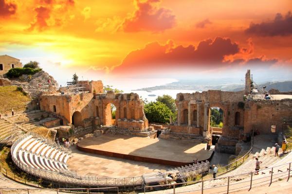 szicília régi színpad