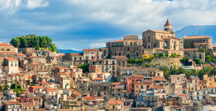 szicíliai tradicionális városlátkép