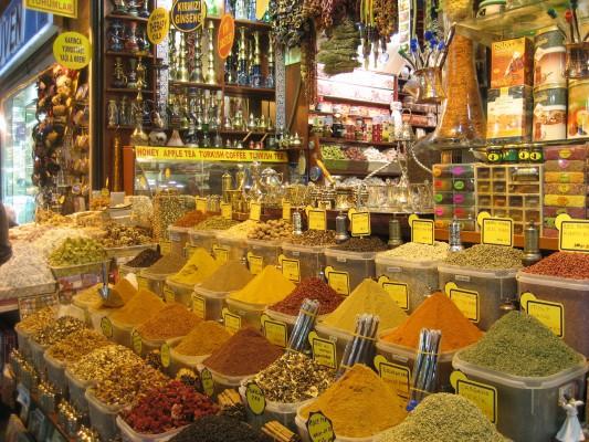 törökország fűszeres bazár