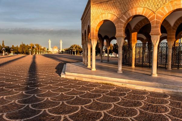 tunézia monastir épület reggel