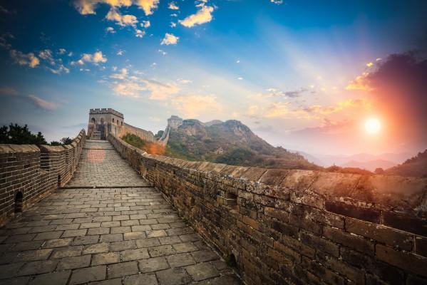 kína nagy fal naplemente