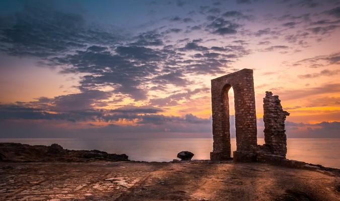 tunézia épület naplemente