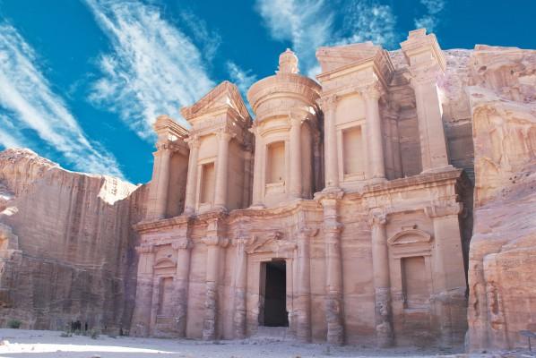 jordánia petra távoli kép